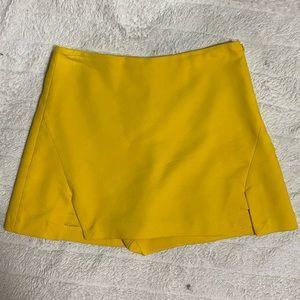 ZARA Yellow Mini Skort